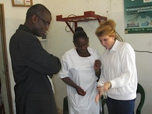 Dr. Patricia Gordon teaches healthcare workers how to use basic equipment